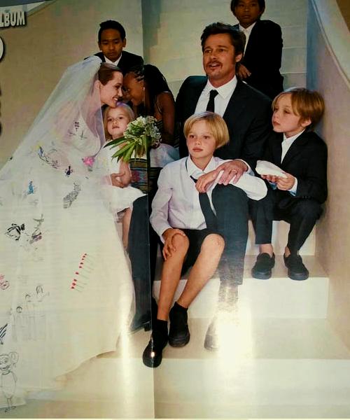 Pax Thiên ôm chầm mẹ Angelina Jolie trong đám cưới