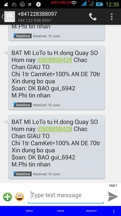 """Chỉ cần người dùng trả lời những tin nhắn rác lừa đảo như thế này, ngay lập tức họ đã bị """"móc túi"""""""