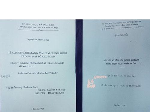 Luận án ông Nguyễn Cảnh Lương bị tố đạo văn