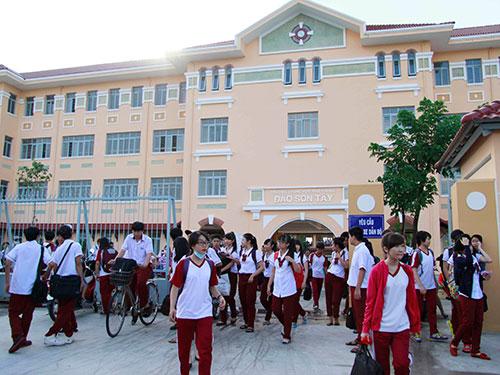Trường THPT Đào Sơn Tây (Thủ Đức) vừa khánh thành, sử dụng cho năm học mới Ảnh: HOÀNG TRIỀU