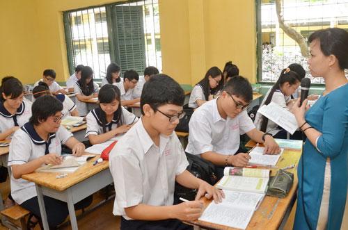 Học sinh Trường THPT Hùng Vương (TP HCM) trong giờ học Ảnh: TẤN THẠNH