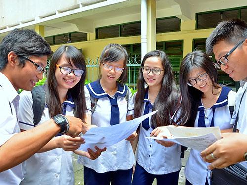Thí sinh dự thi tốt nghiệp THPT tại TP HCM Ảnh: TẤN THẠNH