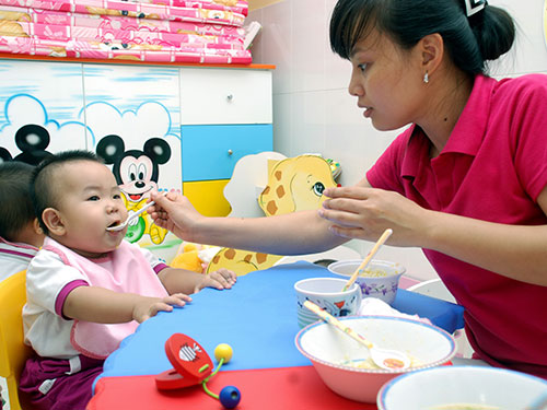 Chăm sóc trẻ tại Trường Mầm non Mèo Con, quận 7, TP HCMẢnh: TẤN THẠNH