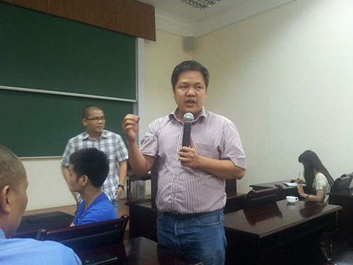 TS Đàm Quang Minh hiện là hiệu trưởng trường ĐH trẻ nhất Việt Nam. (Ảnh do nhân vật cung cấp)