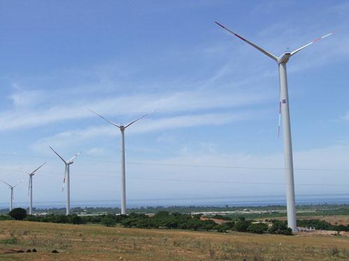 Bình Thuận có tiềm năng lớn về phát triển điện gió Ảnh: Lê Trường