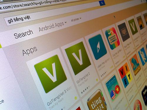 Hệ điều hành di động Android sở hữu nhiều lựa chọn đa dạng cho các tiện ích bàn phím gõ tiếng Việt Ảnh: INTERNET