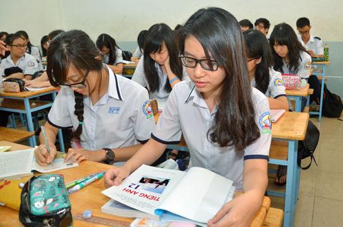 Giáo dục phổ thông cần giữ ổn định. Trong ảnh: Học sinh Trường THPT Bùi Thị Xuân (quận 1, TP HCM) trong giờ học tiếng Anh Ảnh: TẤN THẠNH