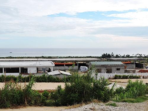 Nhà máy xử lý chất thải rắn tại huyện đảo Lý Sơn đang trong giai đoạn hoàn tất