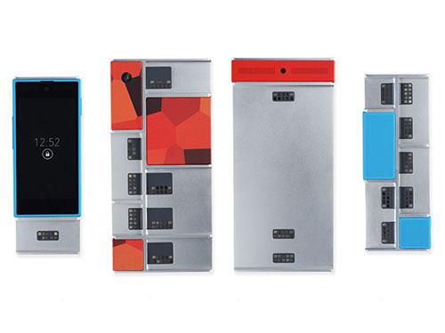 Những bản thử nghiệm đầu tiên của smartphone ARA với nhiều kích thước khung khác nhau Nguồn: WIRED