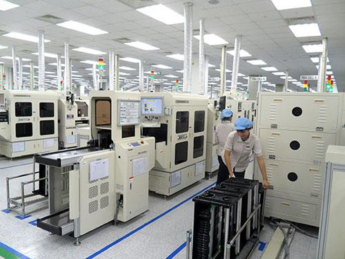 Nhà máy sản xuất điện thoại di động của Công ty TNHH Samsung Vina tại tỉnh Bắc Ninh