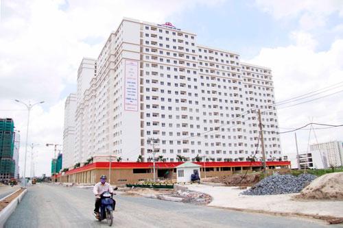 Dự án 1.080 căn hộ ở phường Bình Khánh, quận 2, TP HCM sắp đưa vào sử dụng.Ảnh: HOÀNG TRIỀU