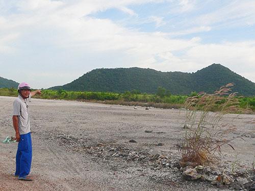 KCN Thuận Yên (thị xã Hà Tiên, tỉnh Kiên Giang) bỏ hoang 8 năm nay Ảnh: THANH VÂN