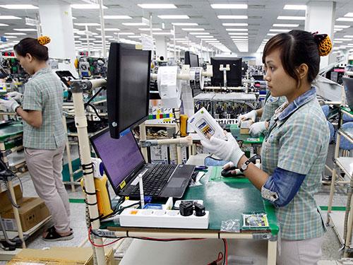 Nhà máy sản xuất điện thoại di động của Công ty Samsung Electronics Việt Nam tại Bắc NinhẢnh: MINH HÀ