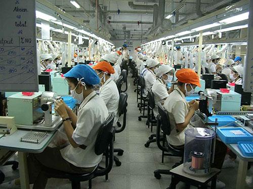 Công ty Nidec Copal, 100% vốn Nhật Bản hoạt động tại KCX Tân Thuận Ảnh: HỒNG ĐÀO