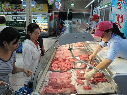 Bò Úc được bán tại siêu thị ở TP HCMẢnh: HỒNG THÚY