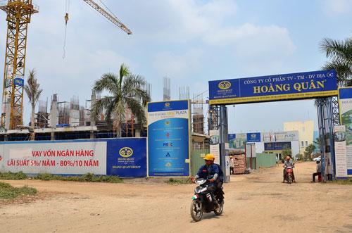 Dự án nhà ở của Công ty Hoàng Quân được vay vốn từ gói 30.000 tỉ đồng Ảnh: TẤN THẠNH
