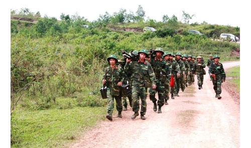 Cán bộ, chiến sĩ Sư đoàn 3 hoàn thành nhiệm vụ diễn tập trở về vị trí tập trung.
