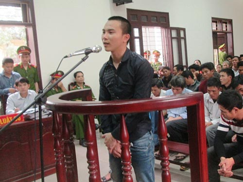 Bị cáo Phạm Văn Thành tại phiên tòa