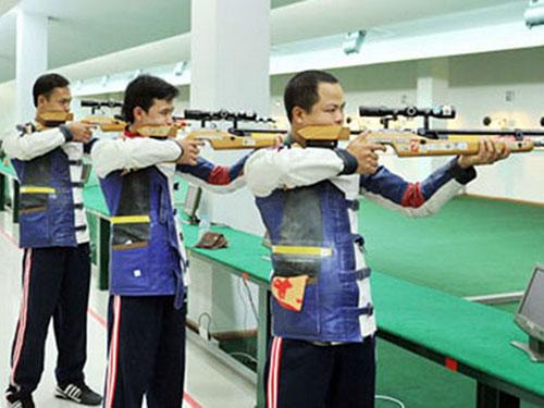 Vận động viên bắn súng đang tập luyện tại Trung tâm Huấn luyện thể thao Quốc gia Hà Nội. (ảnh minh họa)Ảnh: Thể thao VN