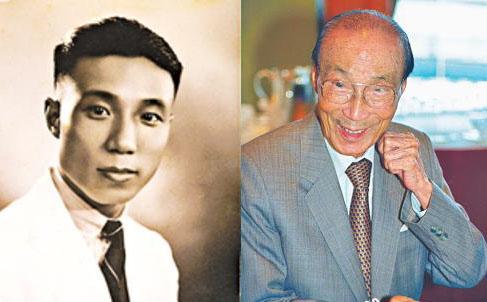Thiệu Dật Phu khi còn trẻ (trái) và lúc già
