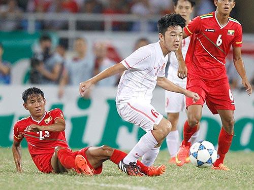 Xuân Trường (6) có trận đấu xuất sắc, ghi 1 bàn, kiến tạo 1 bàn và giúp hàng thủ chỉ để lọt lưới một lần Ảnh: Hải Anh