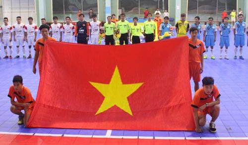 Quang cảnh lễ khai mạc Giải Bóng đá futsal hạng B - TP HCM năm 2014