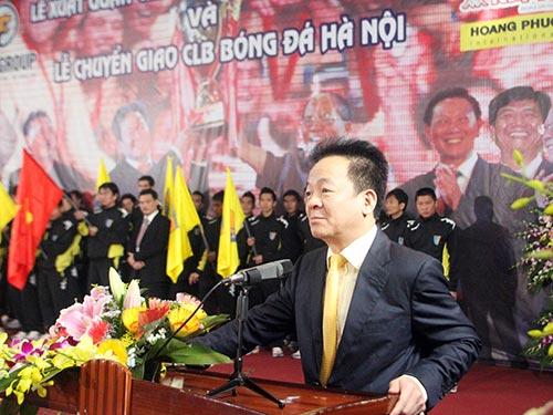 Bầu Hiển sẽ vui hơn nếu Hà Nội T&T tạo tiếng vang ở đấu trường châu Á thay vì chỉ vô địch V-League Ảnh: HẢI ANH