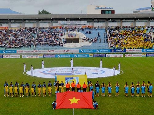 Sân vận động Long Xuyên sẽ được sử dụng trong kế hoạch tổ chức của An Giang bên cạnh việc xây 1 sân mới Ảnh: DƯƠNG THU