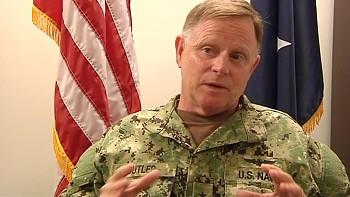 Đứng đầu danh sách trừng phạt của Nga là Chuẩn Đô đốc Richard Butler, Tư lệnh các lực lượng vũ trang Mỹ đóng quân tại căn cứ Guantanamo. Ảnh: NRK