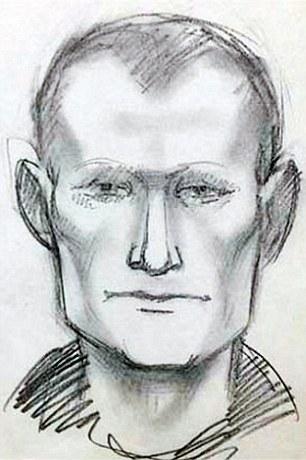 Hình ảnh phát thảo của một tên tội phạm trong băng nhóm giết người hàng loạt. Ảnh: Daily Mail