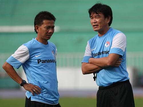 HLV Hoàng Anh Tuấn và HLV Phan Thanh Hùng