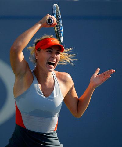 Sharapova đầy sức mạnh nhưng thường thiếu ổn địnhvà nhập cuộc chậm Ảnh: REUTERS
