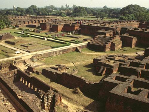 Di tích Trường ĐH Nalanda, bang Bihar, miền Đông Ấn Độ Ảnh: Khaleej Times