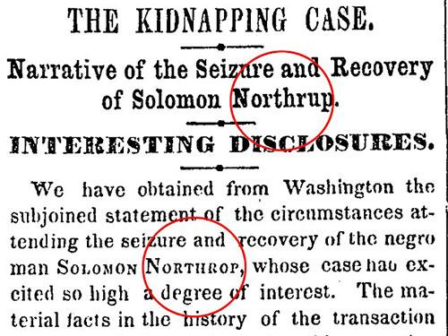 Họ Northup bị đánh máy sai thành Northrup ở tiêu đề và sau đó biến thành Northrop trong bài báoẢnh: DAILY MAIL