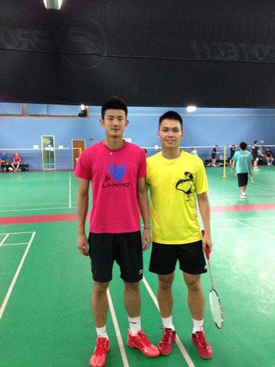 Tay vợt trẻ Phạm Cao Cường (phải) thua ở vòng 3 Giải Mỹ Ảnh: NGỌC QUỲNH
