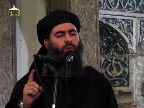 Giới chức Iraq khẳng định Abu Bakr al-Baghdadi đã bị thương Ảnh: SCREENGRAB