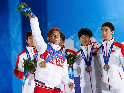 VĐV nhập tịch gốc Hàn Viktor Ahn đem về cho đoàn Nga 3 HCV, 1 HCĐ cá nhân lẫn đồng đội Ảnh: REUTERS