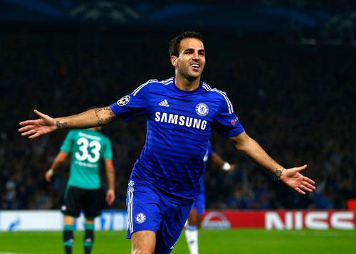 Fabregas sẽ là nhân vật đáng chú ý nhất của trận đại chiến Chelsea - Arsenal  Ảnh: REUTERS