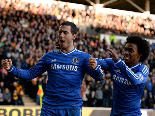 Hazard (trái) sẽ là hiểm họa lớn nhất với hàng thủ M.U đêm 19-1 Ảnh: REUTERS