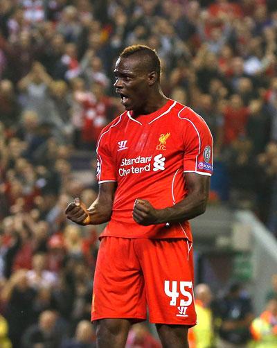 Liverpool kỳ vọng Balotelli sẽ tiếp tục ghi bàn sau khi giúp họ thắng trận mở màn ở Champions League giữa tuần qua Ảnh: REUTERS