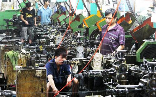 Một xưởng sản xuất ở TP Đông Hoản, tỉnh Quảng Đông Ảnh: SCMP