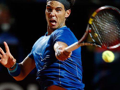 Nadal có phong độ không tốt trong các giải đấu chạy đà trên mặt sân đất nện Ảnh: REUTERS
