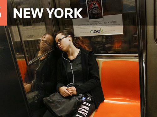 Hệ thống giao thông công cộng ở TP New York – Mỹ được phụ nữ đánh giá cao Ảnh: Reuters