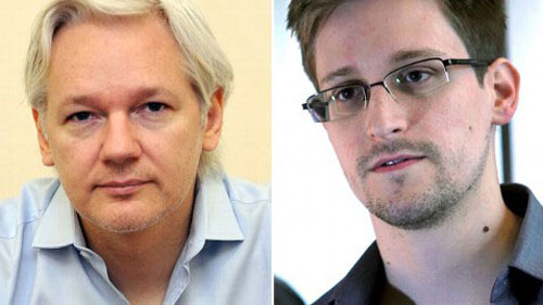 Cuộc sống tù túng của Julian Assange (trái) và Edward Snowden không biết khi nào mới chấm dứtẢnh: AP