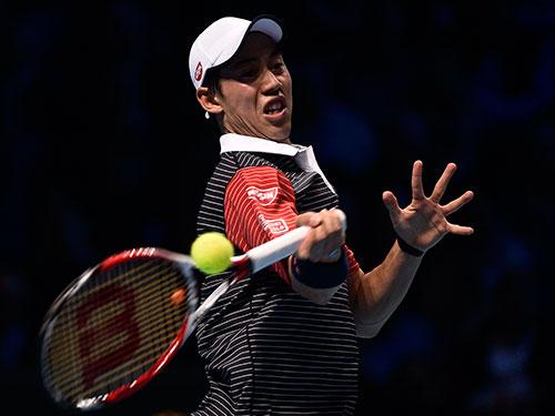 Nishikori là tân binh gây ấn tượng nhất tại Giải ATP cuối mùa 2014  Ảnh: REUTERS
