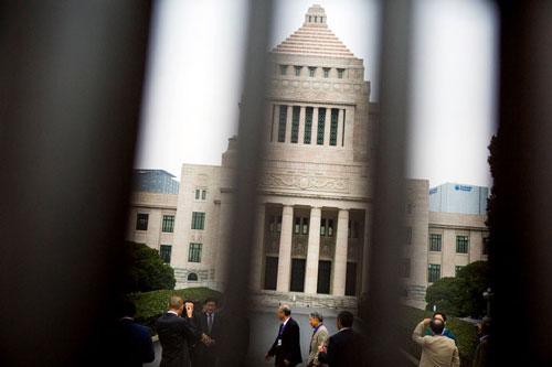 """Hạ viện Nhật Bản, nơi vừa thông qua dự luật hình sự hóa hành vi """"trả thù khiêu dâm""""  Ảnh: REUTERS"""