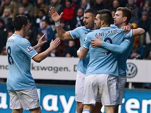 Các bàn thắng của Man City đến từ mọi tuyến Ảnh: REUTERS