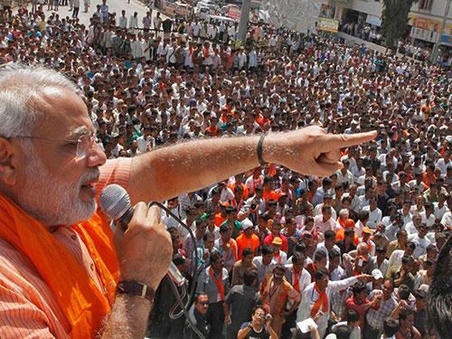Cử tri Ấn Độ ủng hộ đảng của ông Narendra Modi vì họ khao khát chứng kiến sự thay đổi. Ảnh: POLITICALBAABA