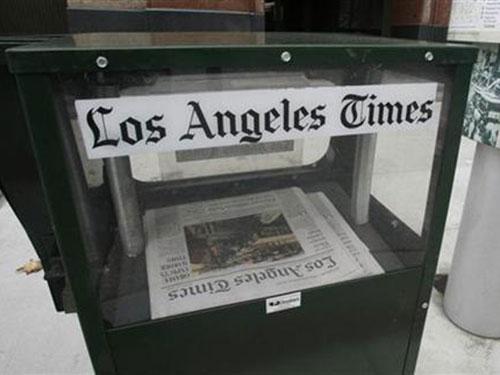 Báo Los Angeles Times đang sử dụng thuật toán để viết tin tức Ảnh: REUTERS