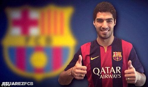 Án phạt của FIFA khiến Barcelona không thể làm lễ ra mắt Suarez Ảnh: EPA